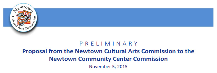 Newtown Community Center Commission Proposal 11/5/2015